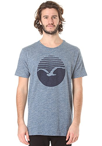 Cleptomanicx Vintage Print T-Shirt Vintage Blue