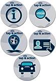 5 NFC Tag Sticker etiquetas autoadhesiva | NXP NTAG203 Ø29mm | diseño 2