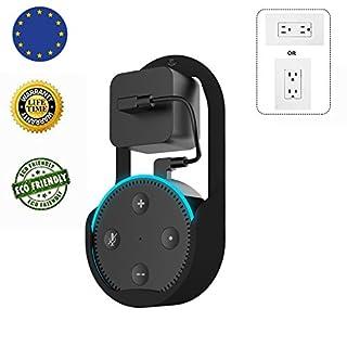 MiSha Echo Dot Lautsprecher-Wandhalterung der zweiten Generation Geeignet für Küche, Bad und Schlafzimmer Zusatzausrüstung Schwarz