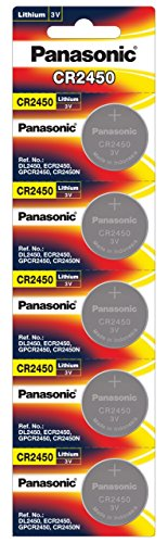 Panasonic Battery Lithium CR-2450/5BE Battery - Pack of 5 (Multicolor)