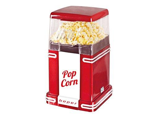 Beper 90.590 Pop Corn Retro Máquina para Hacer Palomitas, 1200 W, Blanco y Rojo
