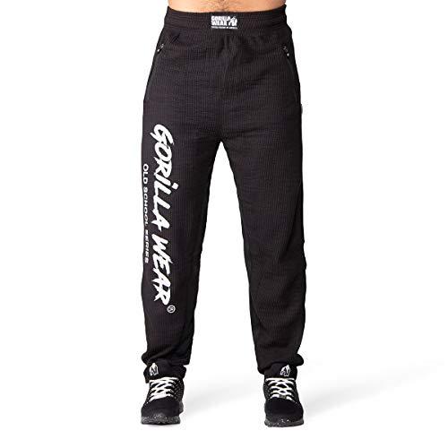 GORILLA WEAR - Bodybuilding Herren Hose Lang - Augustine - Old School Pants - Männer Sporthose Schwarz XXL/3XL