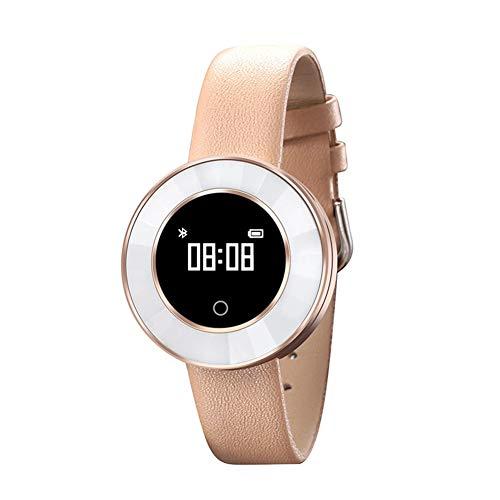 WETERS Fitness Tracker Activity Tracker Uhr Pulsmesser Wasserdichte Bluetooth Weibliche Schrittzähler Blutdruck Dynamik Sport Armband,Goldsteel