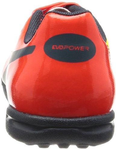 Puma evoPOWER 4 TT Jr, Chaussures de football mixte enfant Rosso (Rot (fluro peach-ombre blue-fluro yellow 01))