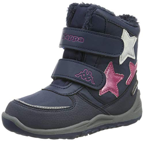 Kappa Mädchen Glitzy TEX Kids Stiefeletten, Blau (Navy/Pink 6722), 25 EU