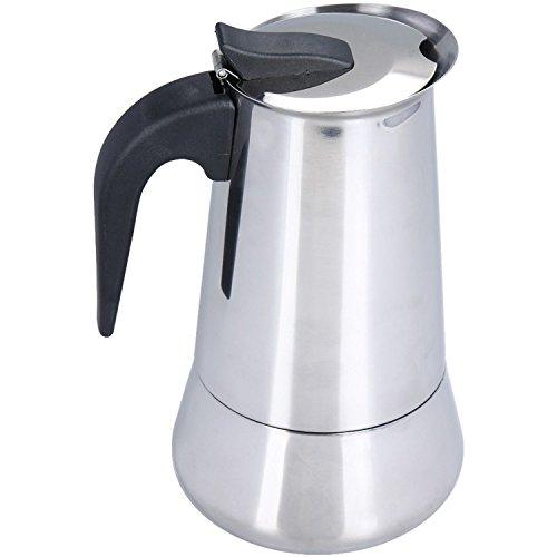Oxid7® Espressokocher Espresso Mokka Maker Aluminium für 6 oder 9 Tassen Espressomaschine (6 Tassen)