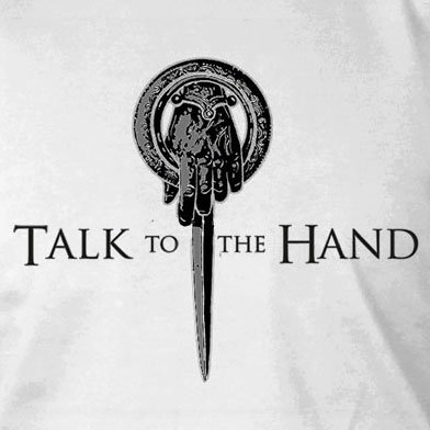 GoT: Talk to the Hand - Herren T-Shirt Grau Meliert
