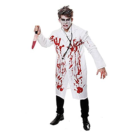 Costumes Médecins Lab Coat - Mens sanglant médecin Médecins Lab Coat Halloween
