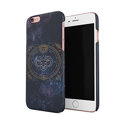 Zodiac Aries Stars Custodia Posteriore Sottile In Plastica Rigida Cover Per iPhone 6 Plus & iPhone 6s Plus Slim Fit Hard Case Cover Aries Sign