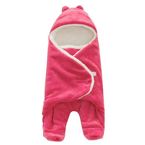 Addensato sacco nanna a forma di squalo per neonato, carino e morbido sacco a pelo per bambino, 100% cotone, 34,25x25,98 pollici, adatto per tutte le stagioni (rosso)