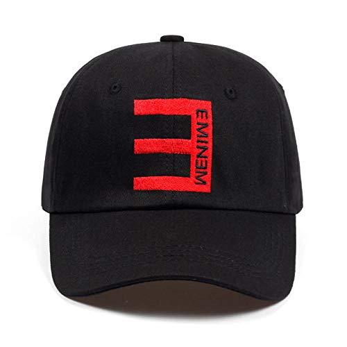 WEY Caps Für Männer Frau, Eminem Stickerei Baseballmütze Sport Sonnenhut, Einstellbare Freizeit Sport Hut,Bild,Einheitsgröße