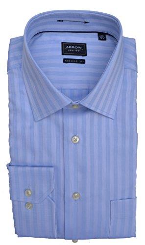 Arrow Hemd Regular Fit Baumwolle Blau gestreift Größe 40 (Hemd Arrow)