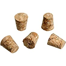 Souarts 100pcs Natural Recycled Tapered Cork Stopper for Corking Home Wine Making Bottles 10mmx8mm