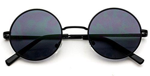 WearMe Pro - Neue Retro Vintage von Lennon inspirierte kleine kreisförmige Sonnenbrille mit rundem Metall