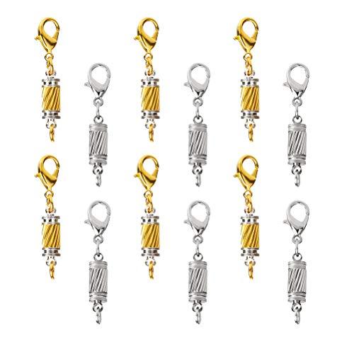 LIOOBO 20 Stück Schmuckverschlüsse Karabinerverschluss Kettenverschluss Schmuck Karabiner Verschluss für HalskettenArmband DIY Schmuckherstellung (Golden und Silber) (Goldene Halskette Verschluss)