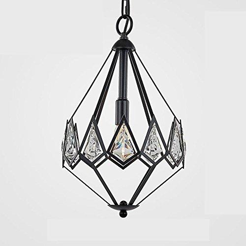GBYZHMH Diamond Kronleuchter, amerikanischen Dorf Eingang Restaurant Kristall Kronleuchter, kontinentalen französischen Luxus Retro Lobby Bar Licht (Farbe: Schwarz, Art: #1) (Französisch Glas-kristall-kronleuchter)