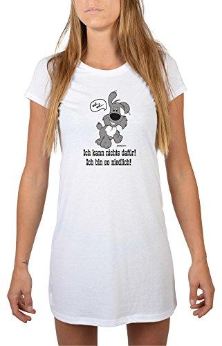 Schlafshirt/Nachthemd mit Hunde-Motiv: Ich kann nichts dafür! Ich bin so niedlich! tolles Geschenk