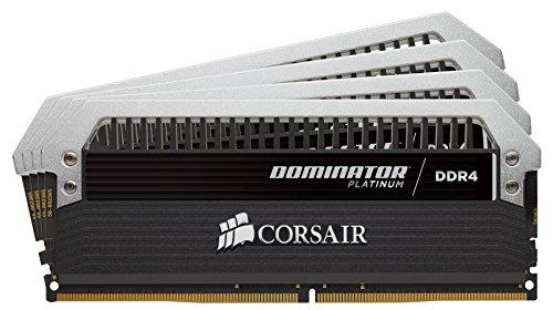Corsair Dominator Platinum - Módulo de Memoria XMP 2.0 de Alto Rendimiento de 32 GB (4 x 8 GB, DDR4, 3733 MHz, C17, con Ventilador Dominator Airflow RGB LED)