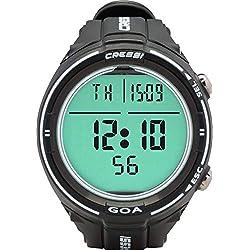 Cressi Sub S.p.A. Goa Ordinateur de Plongée et Horloge Mixte Adulte, Noir/Blanc, Uni
