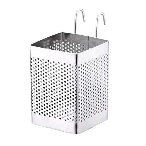 ounona-Escurridor para cubiertos para baquetas cuchara cuchillos tenedor con gancho (plata)