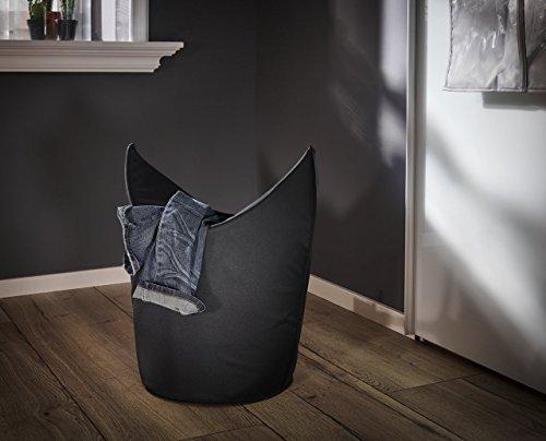 Leifheit 80021 Cesto para La Colada, Tela, Negro, 60 x 35 x 80 cm