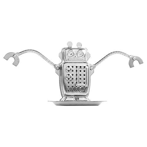 Zerone Infusores De Té Lindos Para Tazas De Té Sueltas, Forma De Robot De Colador Y Cadenas De Acero Inoxidable Reutilizable