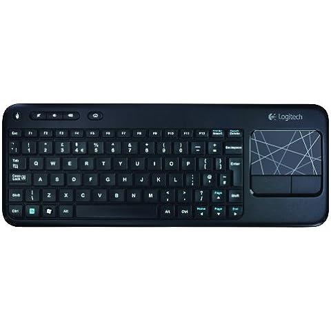 Logitech K400 - Teclado inalámbrico con touchpad (QWERTY español), negro