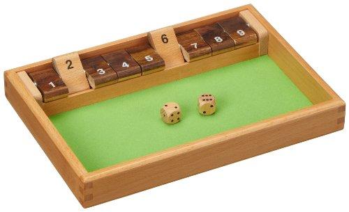 Philos 3119 - Shut The Box 9er, Würfelspiel, Klappenspiel (Würfel-box-spiel)