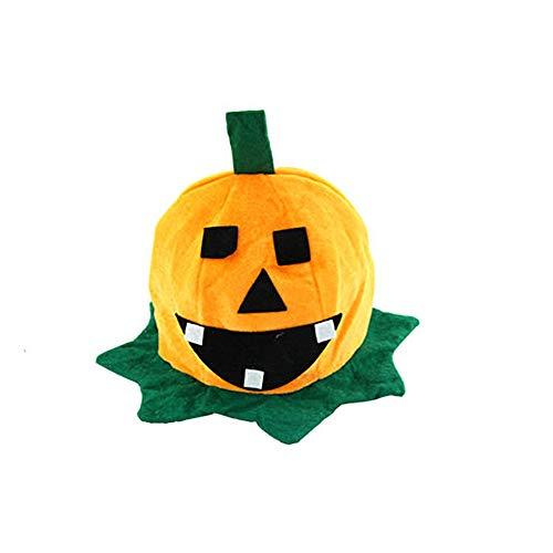 LANDFOX Halloween Kürbis Hut Kostüm Party Requisiten Halloween Kürbis Hut Flanell, Vliesstoff Kostüm Party Requisiten Halloween Kürbis Hut Bayerischer Mini-Hut is mit Haarreif