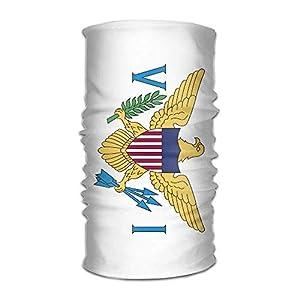 RGFJJE Sturmhauben Flag of The United States Virgin Islands Unisex Outdoor Sport Scarf Headbands Bandana Mask Neck Gaiter Head Wrap Sweatband Headwear