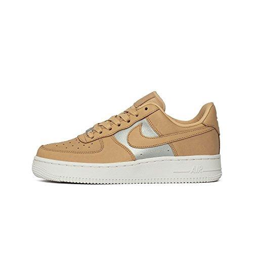 Nike Wmns Air Force 1 Low SE Prm Größe: 36,5 Farbe: Beige/Silv