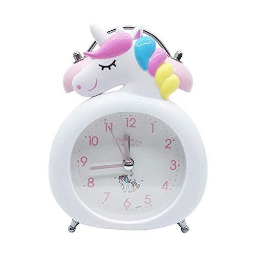 TEHWDE Reloj Despertador Junto a la Cama Reloj de Unicornio Lindo Dibujos Animados con Pilas...