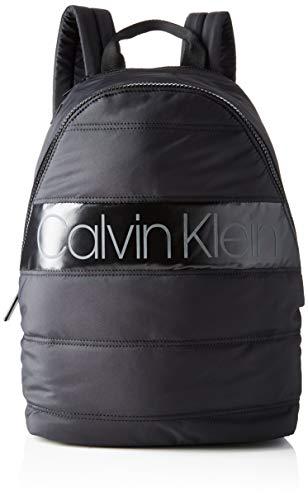 Calvin Klein Herren Puffer Round Backpack Schultertasche, Schwarz (BLACK), 40x28x16cm