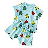 Pwtchenty 2 Stücke Säugling Kleinkind Baby Jungen Mädchen Brief T-Shirt Tops Hosen Pyjama Nachtwäsch Böden Freizeitkleidung Bekleidungssets Kleidung Set