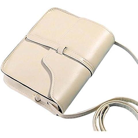 Koly Cuero artificial de la vendimia Koly cuerpo de la cruz del hombro Messenger Bag