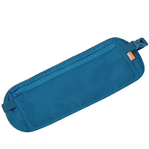 BRG315 Sport Outdoor Sport Tasche Borsa Viaggio Antifurto Portafoglio Invisibile Pacchetto Passaporto Pacchetti Multifunzione Documenti , Blue lake blue