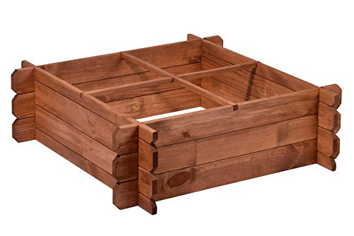 Kräuterbeet aus Holz 80x80x24 Hochbeet-Bausatz Beetumrandung für Garten