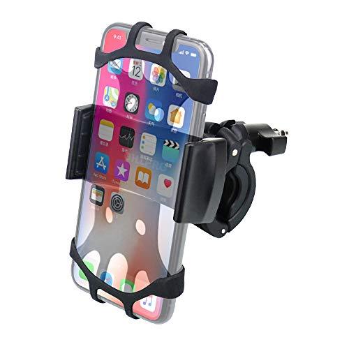 OHLPRO Fahrrad-Handyhalter, Anti-Shake Sports Technology Halterung für Fahrrad, Mountainbike, Motorrad, Universallenker, verstellbares Silikonband für iPhone, Samsung, alle 4.0