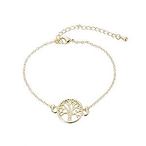 Good.Designs ® Baum des Lebens Armkettchen für Frauen (verstellbar) modisches Armband mit Lebensbaum Anhänger