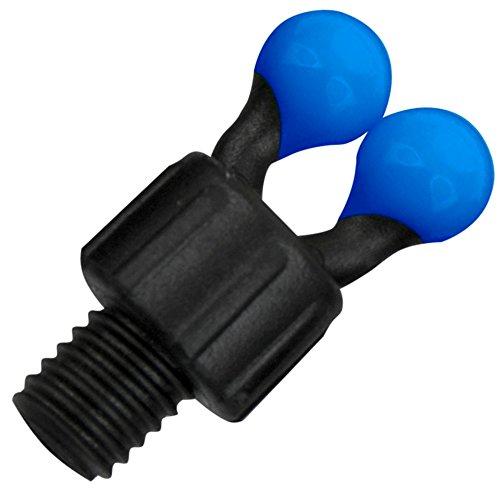 Fox Black Label coloured ball clip für Bissanzeiger, Ball Clip für Bobbin Einhänger zum Karpfenangeln, Bissanzeige, Bissmelder, Farbe:Blue