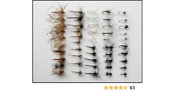 benannt Sorten /& Verschiedene Gr/ö/ßen Troutflies UK Ltd Sommer Forellenangeln Fliegen 50/Trockenfliegen