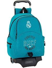 Safta Mochila Real Madrid 3ª Equip. 17/18 Oficial Escolar Con Carro Safta 330x150x430mm