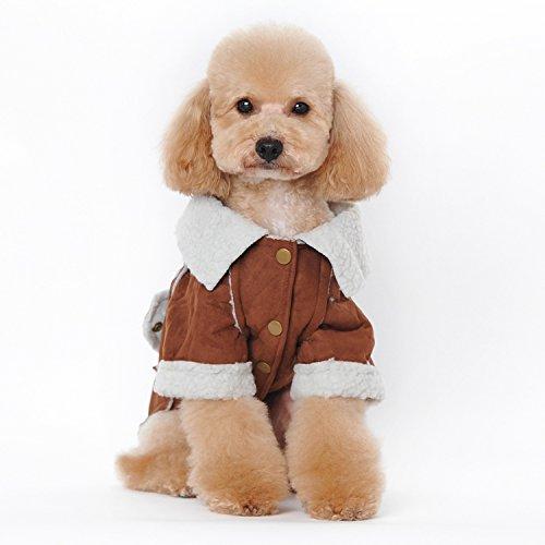 Berber Fleece Haustier Kleidung Hund Kleidung Jacke Mantel Bekleidung Zubehör dunkel braun S (Berber-kleidung)