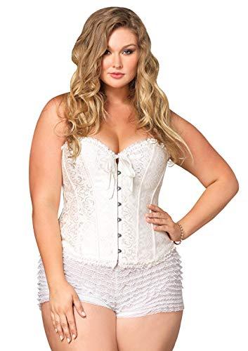 Leg Avenue Damen Korsett - weiß - (Womens Plus Größe Kleidung Capris)