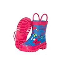 Target Dry Childrens Girls Evie Butterfly Pattern Wellington Boots