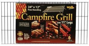 Campfire grill griglia con gambe gambe gambe pieghevoli, 30,5 x 61 cm B003L8K7OC Parent | Pacchetto Elegante E Robusto  | A Prezzi Convenienti  | Esecuzione squisita  52e897