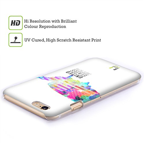 Head Case Designs Land Down Under Australien Aquarell Karten Snap-on Schutzhülle Back Case für Apple iPhone 6 4.7 Land Of The Free Vereinigten Staaten