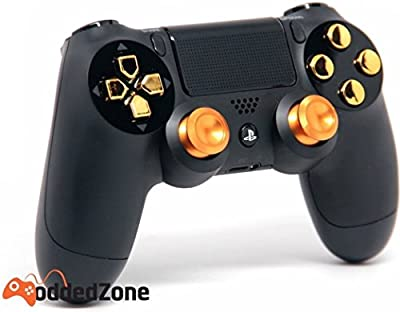 """Black/Gold Aluminum""PS4 Rapid Fire Modded Controller for COD Black Ops3, Infinity Warfare, AW, Destiny, Battlefield: Quick Scope, Drop Shot, Auto Run, Sniped Breath, Mimic, More"