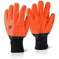 beeswift pvcfg Haga clic pvc h-vis Naranja Guante de congelador