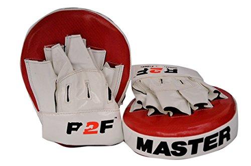 R2F Sports MMA Boxen Pads Schlagen Ziel Smartie Fokus Mitts Ausbildung Stanzen Hook & Jab Thai Streik Kick Schild (Boxen Mma Mitt Ziel)